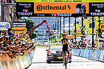 Sepp Kuss (USA) Jumbo-Visma wins solo Stage 15 of the 2021 Tour de France, running 191.3km from Ceret to Andorre-La-Vieille, France. 11th July 2021.  <br /> Picture: A.S.O./Pauline Ballet | Cyclefile<br /> <br /> All photos usage must carry mandatory copyright credit (© Cyclefile | A.S.O./Pauline Ballet)