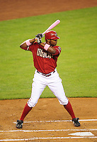 May 10, 2009; Phoenix, AZ, USA; Arizona Diamondbacks outfielder Justin Upton against the Washington Nationals at Chase Field. Mandatory Credit: Mark J. Rebilas-