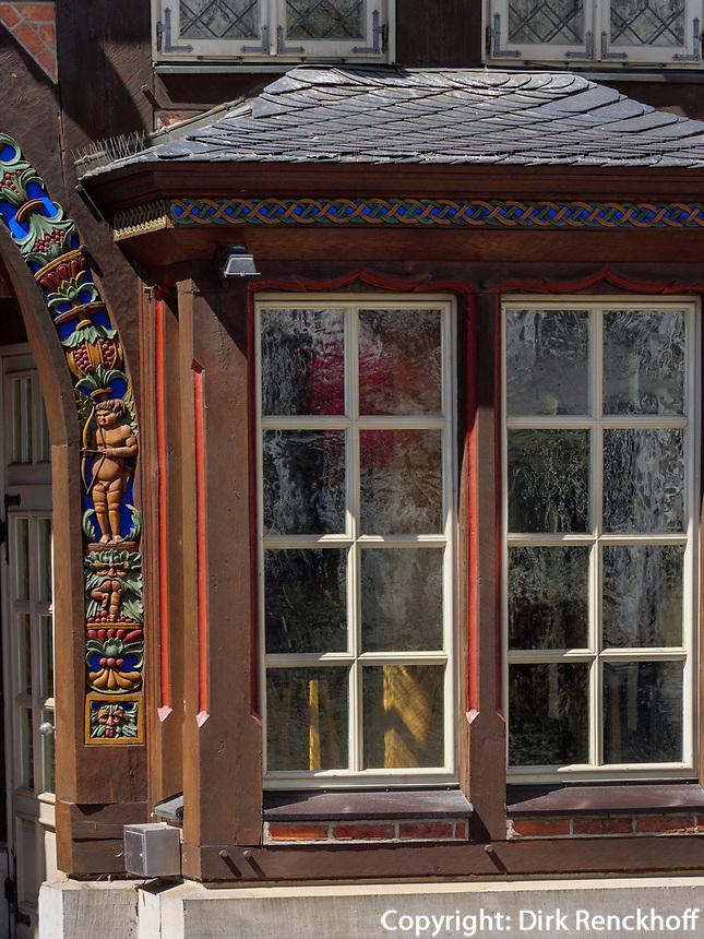 Museum Knochenhauerhaus am historischen Marktplatz, Hildesheim, Niedersachsen, Deutschland, Europa<br /> Museum Knochenhauerhaus at historical marketplace , Hildesheim, Lower Saxony, Germany, Europe