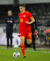 12th November 2020; Liberty Stadium, Swansea, Glamorgan, Wales; International Football Friendly; Wales versus United States of America; Daniel James of Wales brings the ball forward