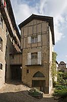 Europe/France/Midi-Pyrénées/46/Lot/Figeac: Maison privée avec un pontet sur la rue, Rue Saint-Thomas