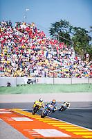 VALENCIA, SPAIN - NOVEMBER 8: Tito Rabat, Alex Rins during Valencia MotoGP 2015 at Ricardo Tormo Circuit on November 8, 2015 in Valencia, Spain
