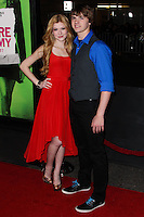 """LOS ANGELES, CA - FEBRUARY 04: Katherine McNamara, Joel Courtney at the Los Angeles Premiere Of The Weinstein Company's """"Vampire Academy"""" held at Regal Cinemas L.A. Live on February 4, 2014 in Los Angeles, California. (Photo by Xavier Collin/Celebrity Monitor)"""