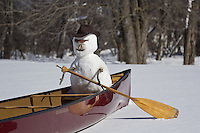 """Snowman Canoeing""<br />