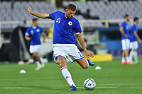 Edin Dzeko of Bosnia warms up prior to the Uefa Nation League Group Stage A1 football match between Italy and Bosnia at Artemio Franchi Stadium in Firenze (Italy), September, 4, 2020. Photo Massimo Insabato / Insidefoto
