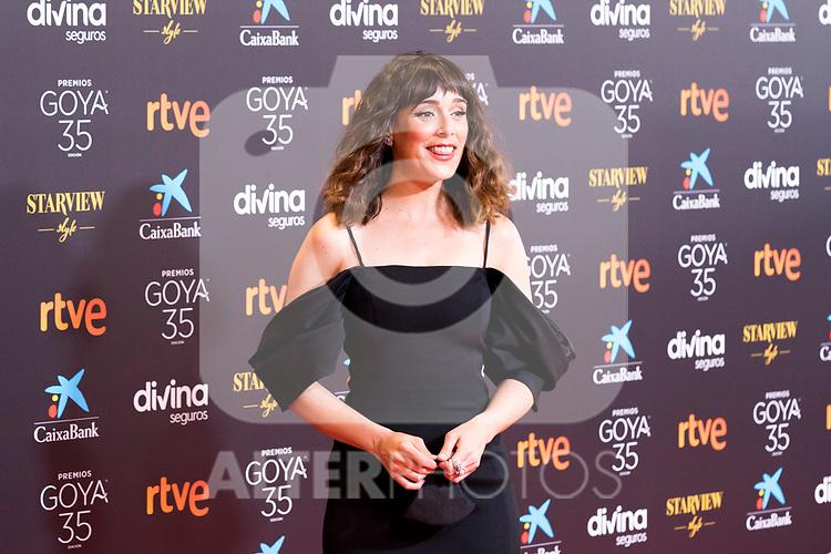 Actress Belen Cuesta attends the red carpet previous to Goya Awards 2021 Gala in Malaga . March 06, 2021. (Alterphotos/Francis González)