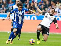 Deportivo Alaves' Bojan Krkic and Valencia CF's Martin Montoya during La Liga match. October 28,2017. (ALTERPHOTOS/Acero) /NortePhoto.com