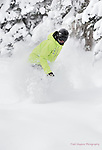 Wolf Creek Snowboard Instructor Zach Maun ripping up some December powder