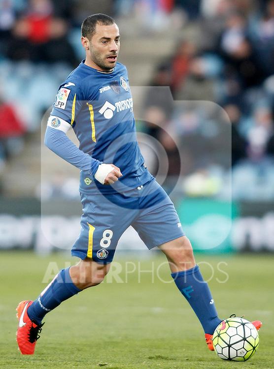 Getafe's Mehdi Lacen during La Liga match. February 27,2016. (ALTERPHOTOS/Acero)