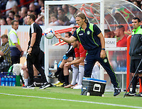 Manager Gareth Ainsworth of Wycombe Wanderers during the Friendly match between Aldershot Town and Wycombe Wanderers at the EBB Stadium, Aldershot, England on 26 July 2016. Photo by Alan  Stanford.
