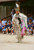 Tribal dance performance. Traditional dance square. American Indian woman. Native tribe. Livingston Texas, Alabama-Coushatta Indian Reservation.