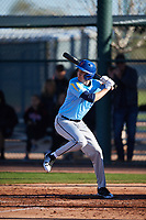 Thomas Sylvester (9) of Detroit Catholic Central High School in Livonia, Michigan during the Baseball Factory All-America Pre-Season Tournament, powered by Under Armour, on January 13, 2018 at Sloan Park Complex in Mesa, Arizona.  (Mike Janes/Four Seam Images)