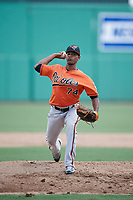 Baltimore Orioles pitcher Luis Perez (74) delivers a pitch during a Florida Instructional League game against the Boston Red Sox on September 21, 2018 at JetBlue Park in Fort Myers, Florida.  (Mike Janes/Four Seam Images)