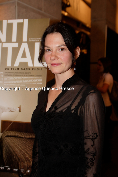 Montreal (Qc) CANADA, November 6, 2007-<br /> Fanny Mallette, actress,<br /> Continental - Un film sans fusil at Ex-Centris<br /> photo (c) Pierre Roussel -  Images Distribution