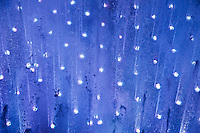 Fountain light show.