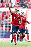 of  Corentin Tolisso #24 (FC Bayern Muenchen)  Ausgleich 1:1, FC Bayern Muenchen vs. VfB Stuttgart, Football, 1.Bundesliga, 12.05.2018 *** Local Caption *** © pixathlon<br /> Contact: +49-40-22 63 02 60 , info@pixathlon.de