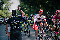 Jasper Stuyven (BEL/Trek-Segafredo) in the feedzone<br /> <br /> Stage 18: Trie-sur-Baïse > Pau (172km)<br /> <br /> 105th Tour de France 2018<br /> ©kramon