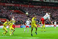 04.09.2017, Warszawa, pilka nozna, kwalifikacje do Mistrzostw Swiata 2018, Polska - Kazachstan, Yuiri Logvinenko (KAZ) foul faul, Robert Lewandowski (POL), Poland - Kazakhstan, World Cup 2018 qualifier, football, fot. Tomasz Jastrzebowski / Foto Olimpik<br /><br />POLAND OUT !!! *** Local Caption *** +++ POL out!! +++<br /> Contact: +49-40-22 63 02 60 , info@pixathlon.de