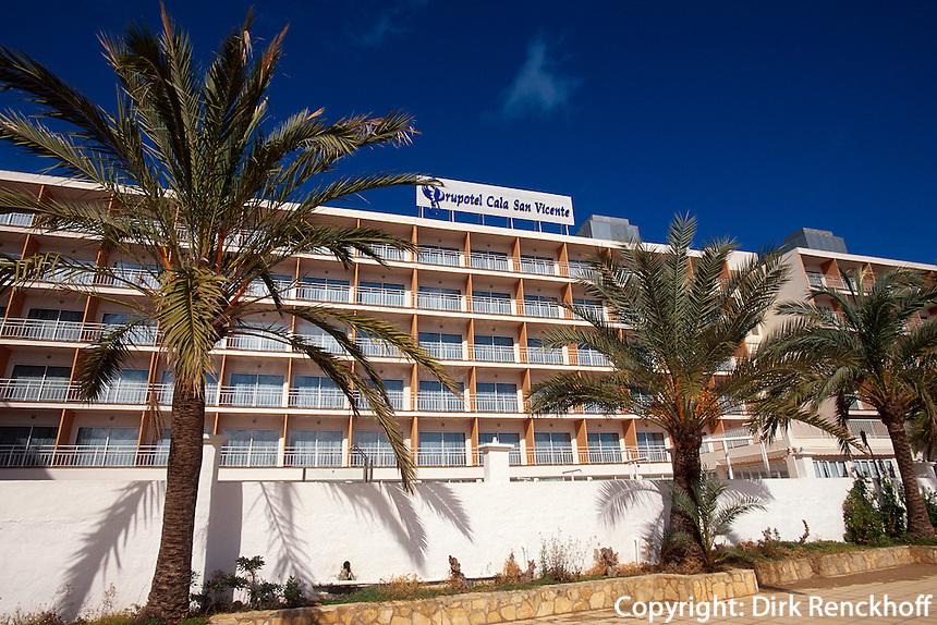 Spanien, Balearen, Ibiza, Hotel in Cala de Sant Vincent
