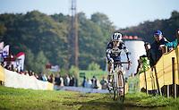 Pavla Havlikova (CZE/MRM-Avalon) leading the race<br /> <br /> Elite Women's Race<br /> bpost bank trofee<br /> GP Mario De Clercq Ronse 2015