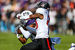 TCU Horned Frogs safety Nick Orr (18) in action during the game between the Texas Tech Red Raiders and the TCU Horned Frogs at the Amon G. Carter Stadium in Fort Worth, Texas.