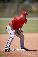 Washington Nationals Sheldon Neuse (17) during practice before a minor league Spring Training game against the St. Louis Cardinals on March 27, 2017 at the Roger Dean Stadium Complex in Jupiter, Florida.  (Mike Janes/Four Seam Images)