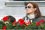 Spanish Model Nieves Alvarez during Tennis Madrid Open match, May 5,2010..(ALFAQUI/Alex Cid-Fuentes)