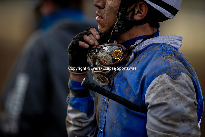 January 03, 2021: goggles at Santa Anita Park in Arcadia, California on January 3, 2021. Evers/Eclipse Sportswire/CSM