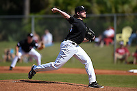 Saint Joseph's Hawks pitcher Pat Vanderslice (24) during a game against the Indiana Hoosiers on March 7, 2015 at North Charlotte Regional Park in Port Charlotte, Florida.  Indiana defeated Saint Joseph's 3-2.  (Mike Janes/Four Seam Images)