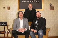"Alex de la Iglesia, Esteban Roel and Juanfer Andres attend the presentation of the movie ""Musaranas"" in Madrid, Spain. December 17, 2014. (ALTERPHOTOS/Carlos Dafonte) /NortePhoto /NortePhoto.com"