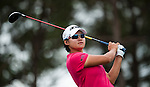 TAOYUAN, TAIWAN - OCTOBER 28:  Yani Tseng of Taiwan tees off on the 3rd hole during the day four of the Sunrise LPGA Taiwan Championship at the Sunrise Golf Course on October 28, 2012 in Taoyuan, Taiwan.  Photo by Victor Fraile / The Power of Sport Images
