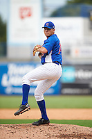 Pitcher Matt Mervis (24) of Georgetown Preparatory in Potomac, Maryland playing for the Chicago Cubs scout team during the East Coast Pro Showcase on July 28, 2015 at George M. Steinbrenner Field in Tampa, Florida.  (Mike Janes/Four Seam Images)