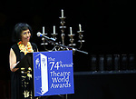 Baayork Lee during the 74th Annual Theatre World Awards at Circle in the Square on June 4, 2018 in New York City.
