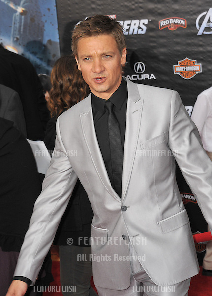 """Jeremy Renner at the world premiere of his new movie """"Marvel's The Avengers"""" at the El Capitan Theatre, Hollywood..April 11, 2012  Los Angeles, CA.Picture: Paul Smith / Featureflash"""