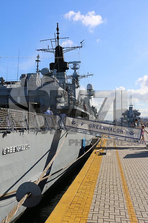 VITÓRIA, ES, 11.05.2019 - MARINHA-ES - Fragata Greenhalgh F46, da Marinha do Brasil aberta a visitação pública no Porto de Vitória - ES, neste sábado, 11. ( Foto Charles Sholl/Brazil Photo Press/Folhapress)