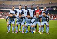 Washington, DC - October 3, 2014: D.C. United tied Sporting KC 0-0 during a Major League Soccer (MLS) match at RFK Stadium.