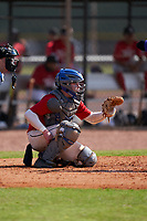 Catcher Cory Filley (6) during the Perfect Game National Underclass East Showcase on January 23, 2021 at Baseball City in St. Petersburg, Florida.  (Mike Janes/Four Seam Images)