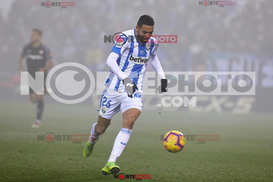 CD Leganes' Youssef En-Nesyri during La Liga match between CD Leganes and Sevilla FC at Butarque Stadium in Leganes, Spain. December 23, 2018. (ALTERPHOTOS/A. Perez Meca) /NortEPhoto.com
