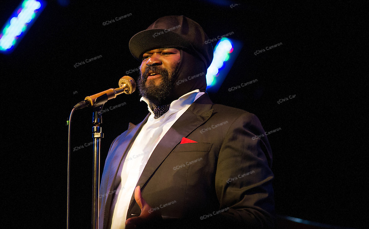 Gregory Porter sings at Performance Works, June 24,2013 in the TD Vancouver International Jazz Festival