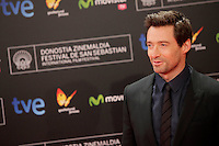 """Australian actor Hugh Jackman posses in the photocall for the presentation of the """"Prisioners"""" film and before receiving the Donostia Award during the 61st San Sebastian Film Festival in the Northern Spanish Basque city of San Sebastian on September 27, 2013. (ALTERPHOTOS/Victor Blanco) <br /> San Sebastian Film Fest <br /> Foto Insidefoto"""