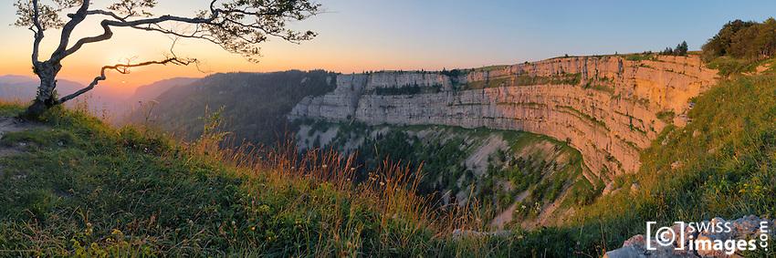 """Panoramic view of """"Le Creux-du-Van"""""""
