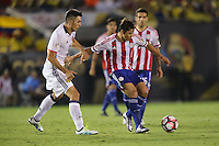 Pasadena, CA - Tuesday June 07, 2016: Paraguay midfielder Oscar Romero (21) during a Copa America Centenario Group A match between Colombia (COL) and Paraguay (PAR) at Rose Bowl Stadium.