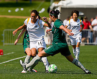 St Louis Athletica forward Melissa Tancredi (14) knocks the ball away from Los Angeles Sol defender Stephanie Cox (14) during a WPS match at Hermann Stadium, in St. Louis, MO, April 25 2009. The match ended in a 0-0 tie.