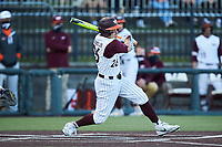 Kevin Madden (26) of the Virginia Tech Hokies at bat against the Georgia Tech Yellow Jackets at English Field on April 16, 2021 in Blacksburg, Virginia. (Brian Westerholt/Four Seam Images)