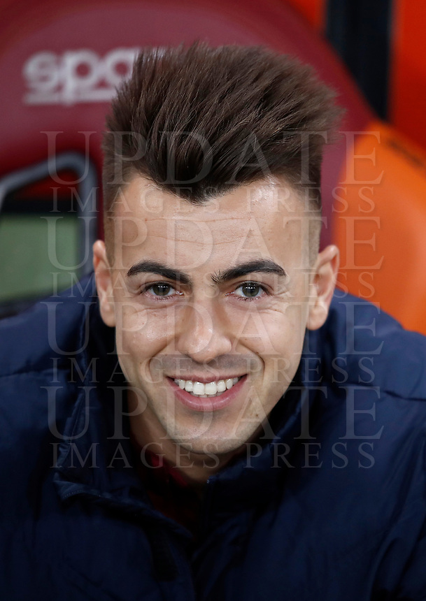 Calcio, Serie A: Roma, stadio Olimpico, 1 aprile, 2017.<br /> Roma's Stephan El Shaarawy waits for the start of the Italian Serie A football match between Roma and Empoli at Olimpico stadium, April 1, 2017<br /> UPDATE IMAGES PRESS/Isabella Bonotto