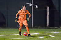 Anderlecht goalkeeper Justine Odeurs (13) with the ball during a female soccer game between RSC Anderlecht Dames and Eendracht Aalst Ladies  on the fourth matchday of the 2020 - 2021 season of Belgian Womens Super League , Tuesday 13 th of October 2020  in ANDERLECHT , Belgium . PHOTO SPORTPIX.BE | SPP | STIJN AUDOOREN