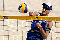 Italy's Daniele Lupo in action during the match between Italy and Austria at Beach Volleyball World Tour Grand Slam, Foro Italico, Rome, 21 June 2013.<br /> UPDATE IMAGES PRESS/Isabella Bonotto