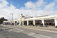 Pictured: The Porthcawl Pavilion. Sunday 29 September 2019<br /> Re: Porthcawl Elvis Festival in south Wales, UK.