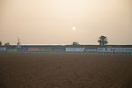 DUBAI,UNITED ARAB EMIRATES-MARCH 23: Sunrise from 2nd turn at Meydan Racecourse on March 23,2017 in Dubai,United Arab Emirates (Photo by Kaz Ishida/Eclipse Sportswire/Getty Images)