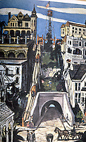 "Los Angeles: Angel's Flight, 1901, as seen in 1902, ""as imagined"". By Leo Polito, Bunker Hill, 1964."